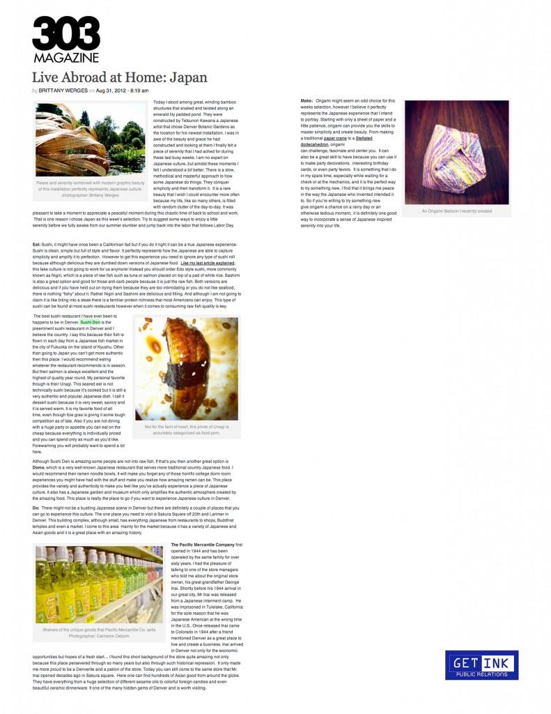 303Magazine.com 8.31.12