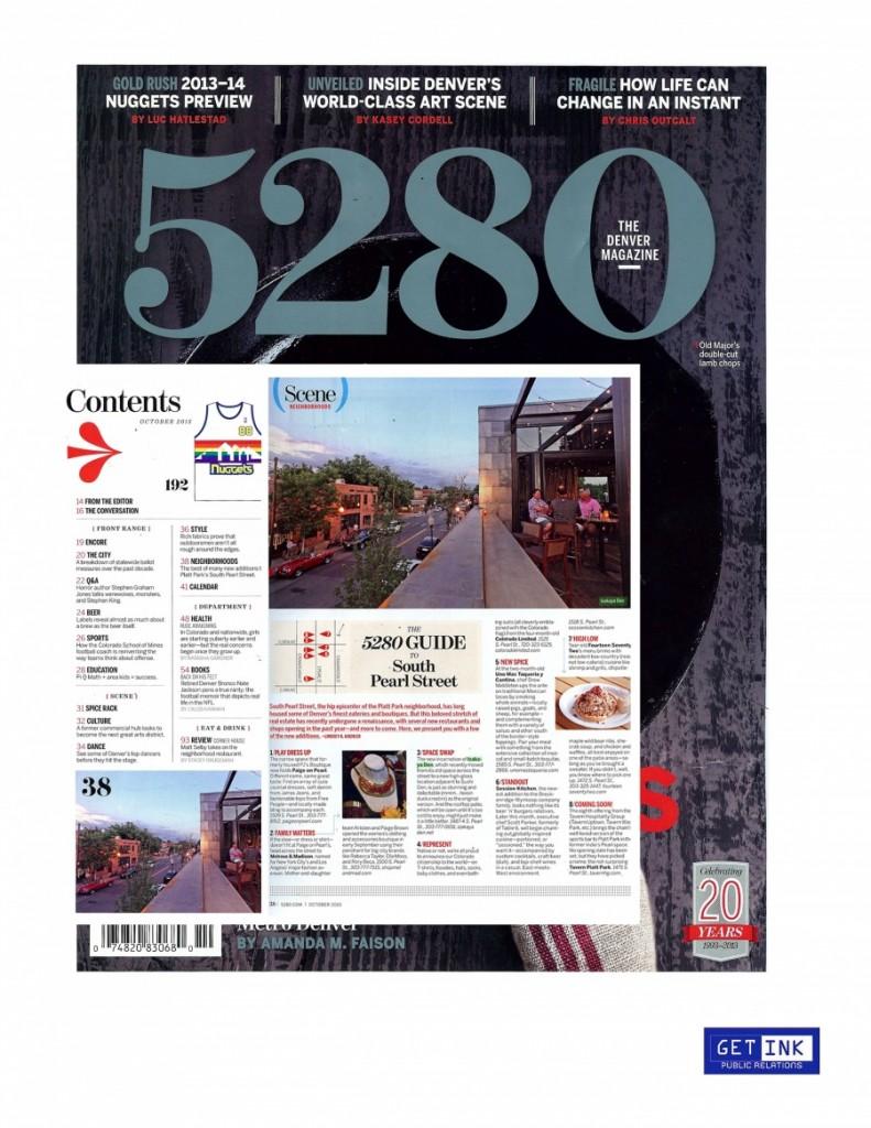 5280 Magazine Nov. 2013