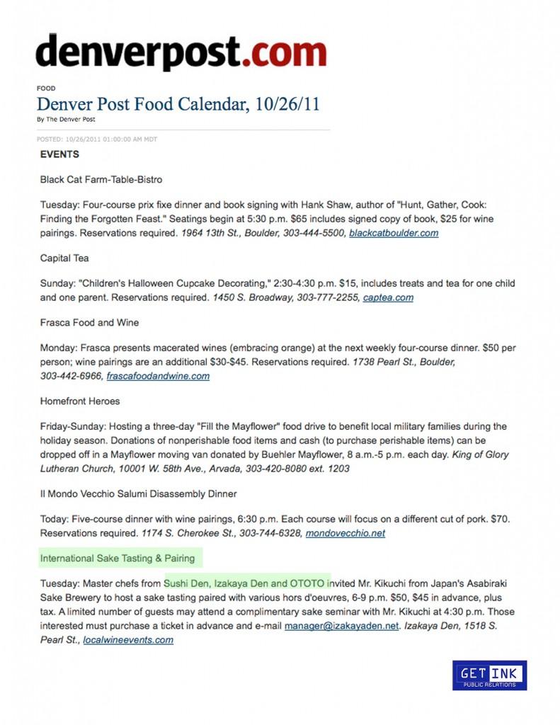 DenverPost.com 10.26.11